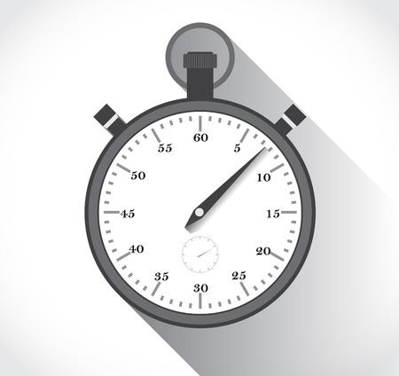 old fashioned: illustration of old fashioned analog stopwatch in a flat design