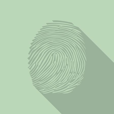 theft proof: Fingerprint in a flat design