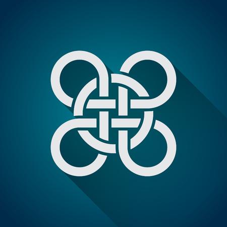 celtic: Celtic symbol, logo icon design template, flat design Illustration