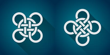 celtic symbol: Set of celtic symbol, logo icon design template, flat design Illustration