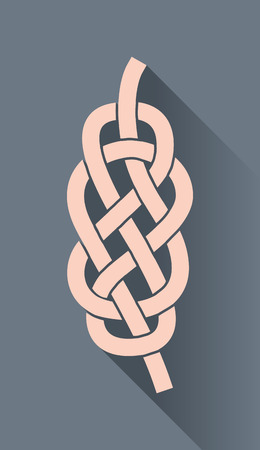 knots: Knot on the rope symbol, in flat design Illustration