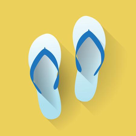 sandali da spiaggia in un design piatto
