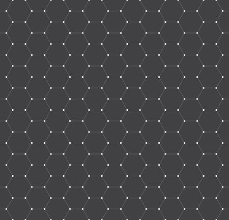 repeating: Vector seamless pattern, texture. Repeating hexagonal tiles.
