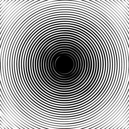 lenght: Black halftone circle pattern useful as abstract sound vibration. Vector illustration Illustration