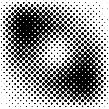 halftone dots: Black halftone pattern. Vector illustration