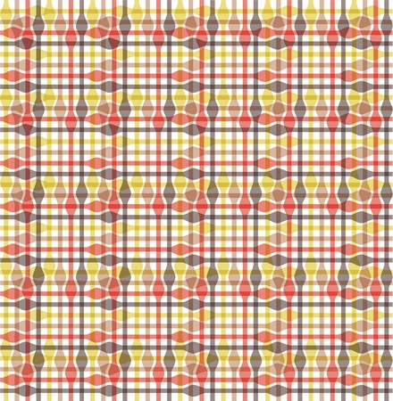 chequered drapery: Abstract colorful transparency tablecloth pattern, vector illustartion Illustration