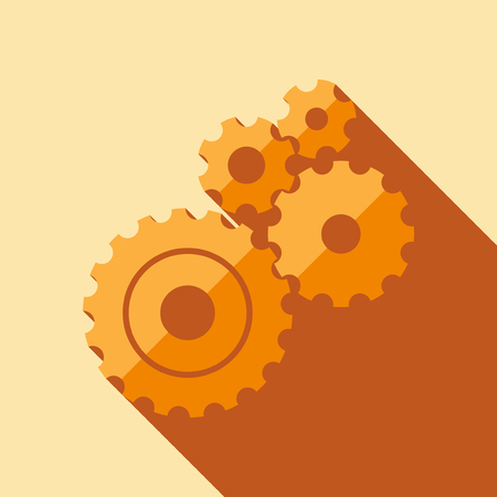 abstract circles: Set of gears in a flat design