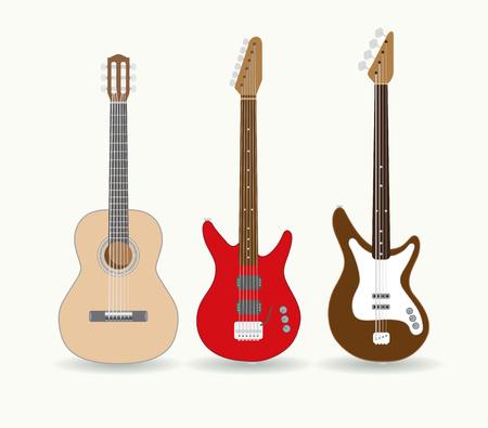 standalone: Set of standalone guitars. Vector illustration