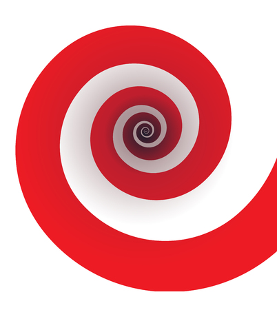 Classic red spiral illustration