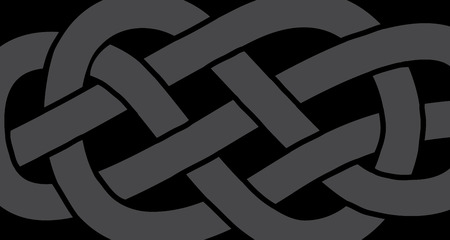 Abstract knot on a rope pattern, vector illustration