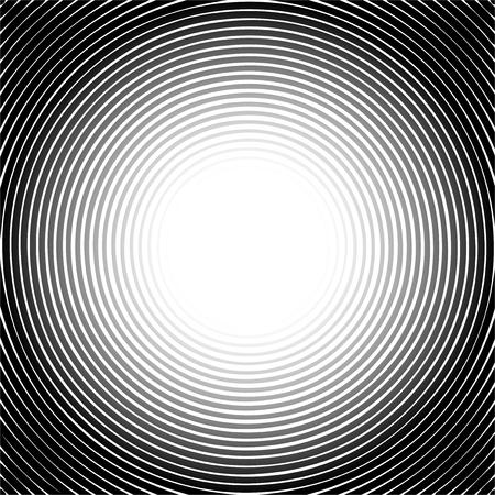 vibration: Black halftone circle pattern useful as abstract sound vibration. Vector illustration Illustration