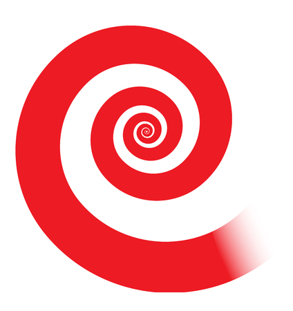 psychologists: Classic red spiral illustration, vector.