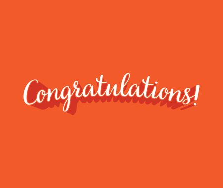 congratulations: Felicitaciones, tarjetas de felicitación - ilustración