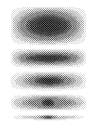 intensity: Set of halftone strips, various intensity and dimensions. Illustration