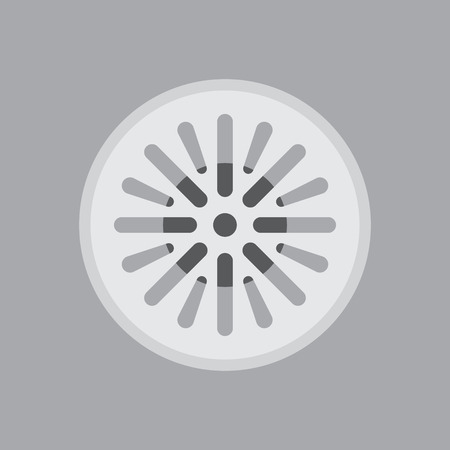 sewer: Street sewer in a flat design Illustration