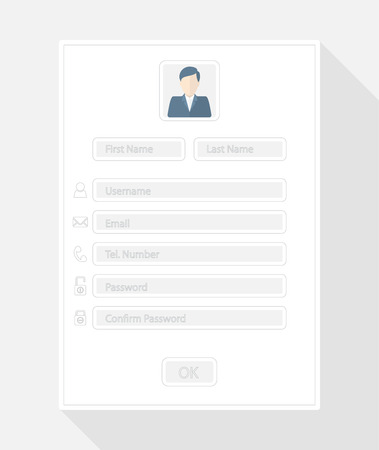 forms: Web registration form, flat design Illustration