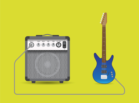 combo: Electric guitar and combo illustration.