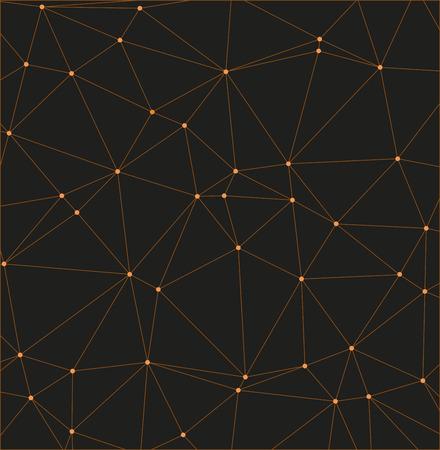 Abstrait géométrique créé à partir de lignes et de points. - vecteur de stock