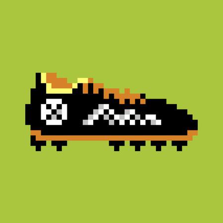 Pixel football boot pixel-art Фото со стока - 64880064