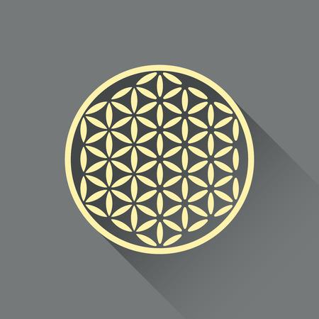 flower of life: Flower of life flat design