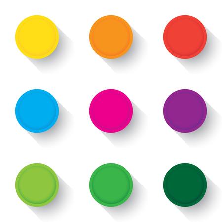 Set of empty buttons in a flat design. Illustration Illustration