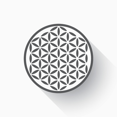 Flower of life flat design