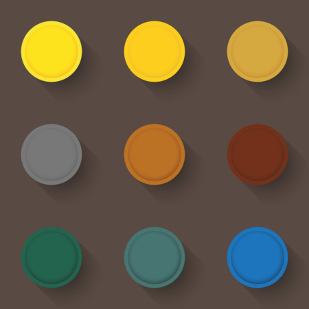 Set of empty buttons in a flat design. Illustration Фото со стока - 64880199