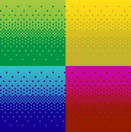 Vintage pixel gradient background. Stock vector, set of Фото со стока - 69467256