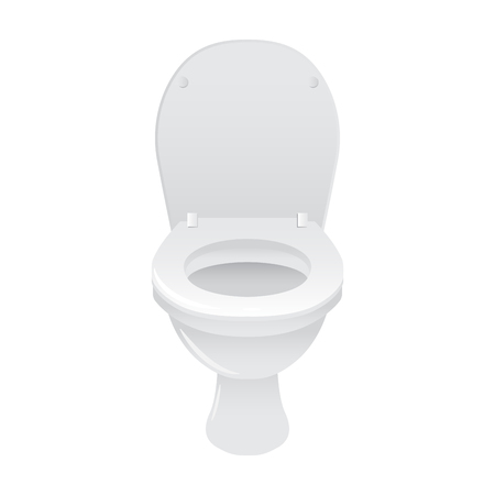 WC toilet, isolated on white background, stock vector Фото со стока - 70909662