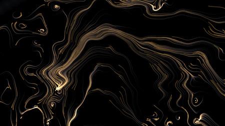plasma: Yellow plasma abstract background isolated on black Stock Photo