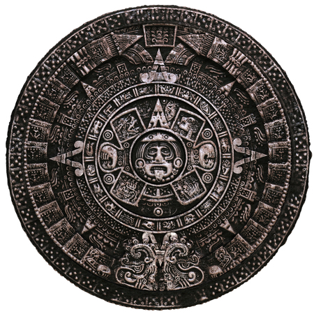 Mayan calendar on white background
