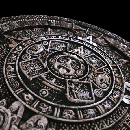 zoomed: Zoomed mayan calendar Stock Photo