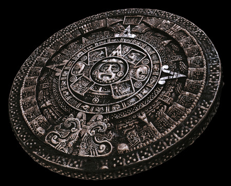 mayan culture: Full Mayan calendar from distance Stock Photo