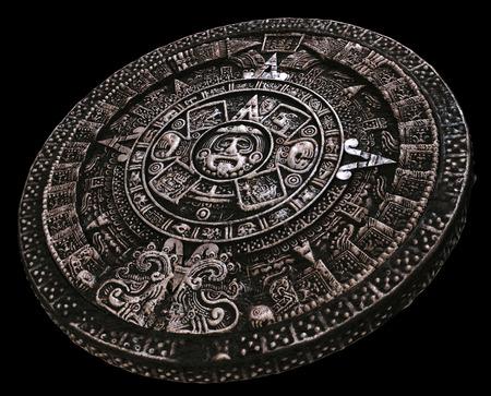 Volledige Maya-kalender afstand van Stockfoto