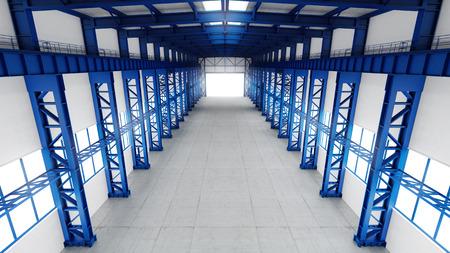 empty warehouse: Empty warehouse interior