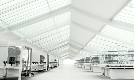 industria quimica: Laboratorio de Investigaci�n limpia moderna