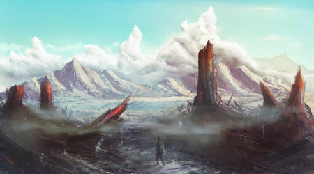 lost world: Lost Planet apocalyptic landscape concept art