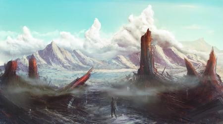 Lost Planet apocalyptisch landschap concept art