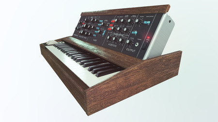 oma: Classic analog synthesizer side view