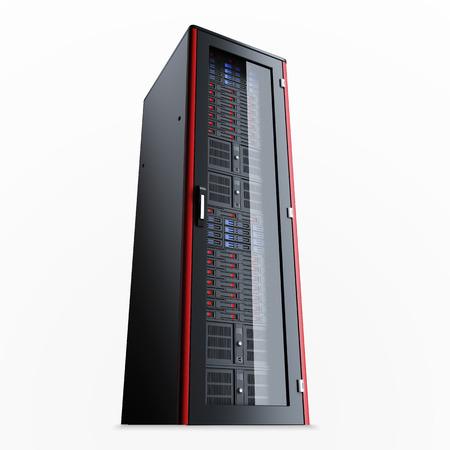 Uitgeschakeld de server rek geïsoleerd op een witte achtergrond