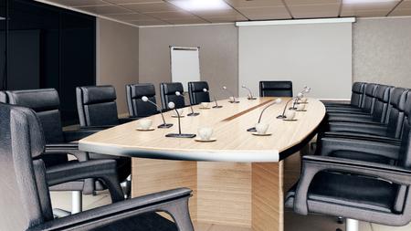 Empty conference room interior Banco de Imagens