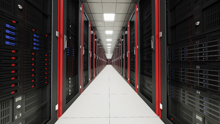 server hardware: Inside the long tunnel server room