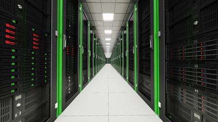 renderfarm: Inside the long tunnel server room