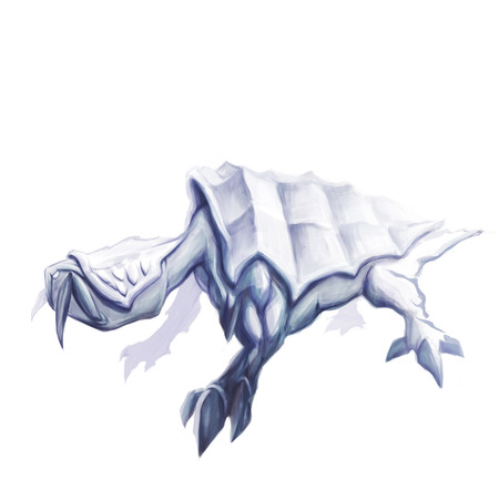 mythical: Sneaky mythical reptile ink concept art