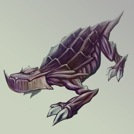 sneaky: Sneaky mythical reptile concept art