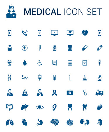 blue pills: Blue Medical Icon Set