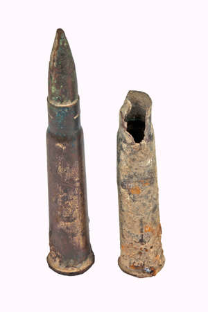 armaments: trench bullets - one discharged round and one unusued round from a previous conflict