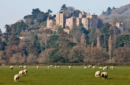 A view across the fields towards Dunster castle Editorial