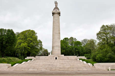 pershing: MONTFAUCON, FRANCE - MAY 14  American WW1 monument to the US forces who fought in the Meuse Argonne battles of 1918 on May 14, 2013 in Montfaucon  At over 200ft high it towers over the ruined village