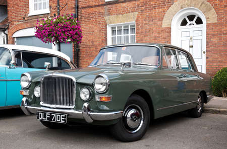motorcar: AMERSHAM, UK - SEPTEMBER 13: A vintage Vanden Plas Princess motorcar is parked on the side of the highway as a static display at the Amersham Heritage Day festival on September 13, 2015 in Amersham.